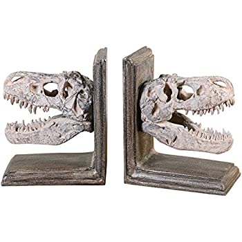 Uttermost 19924 Dinosaur Bookends  Set of 2 Amazon com Design Toscano T Rex Cast Iron Sculptural