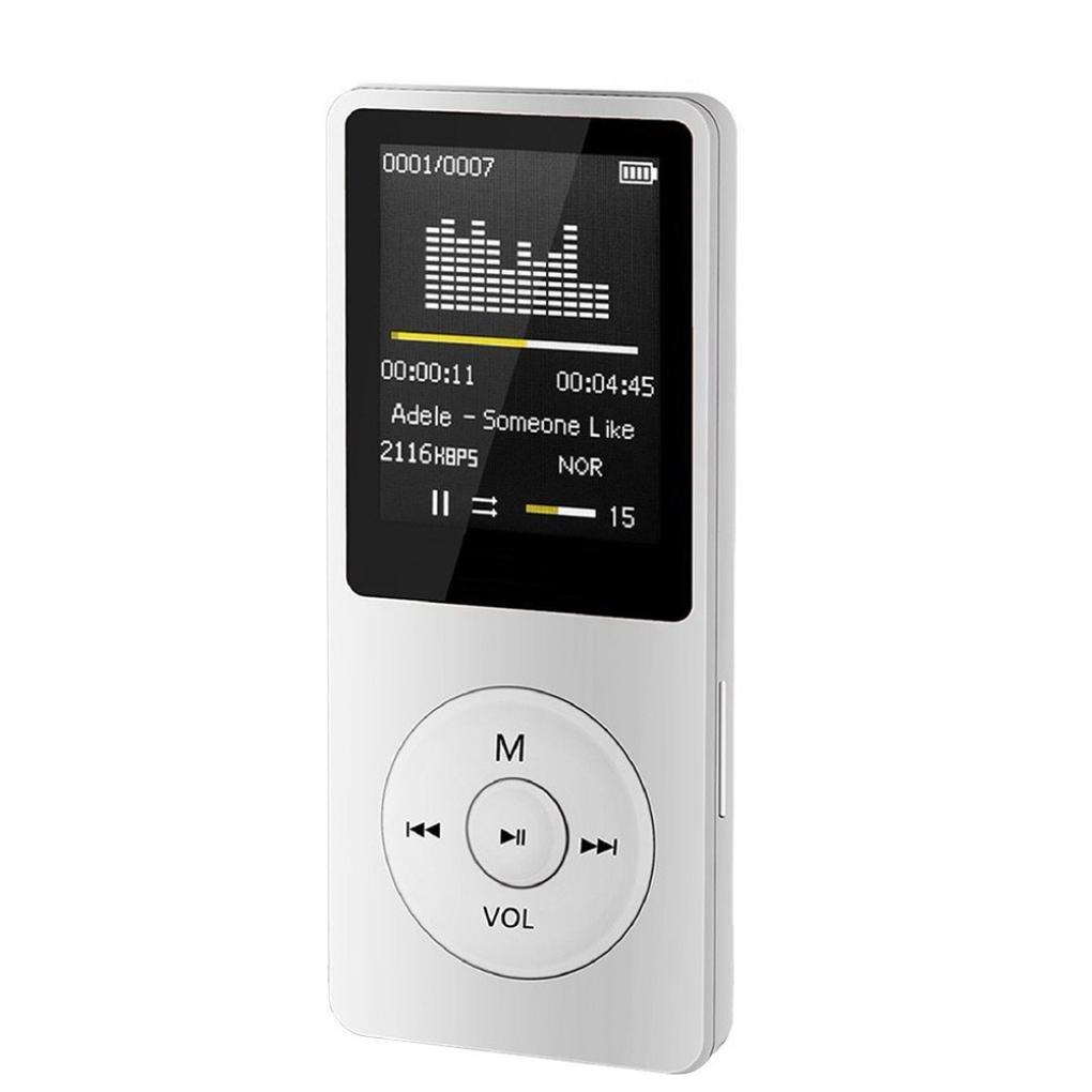 Ouneed Mp4 Mp3 Lecteur de Musique LCD Ecaran MP3 FM-80h Longue duree-Ebook-FM-Albums- (Blanc)