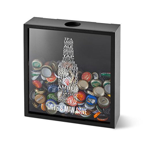 Monogram Shadow Box - A Gift Personalized Personalized Beer Bottle Cap Display Shadow Box - BottleWord