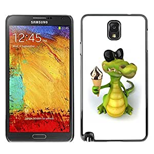 GagaDesign Phone Accessories: Hard Case Cover for Samsung Galaxy Note 3 - Friendly Crocodile Ice Cream