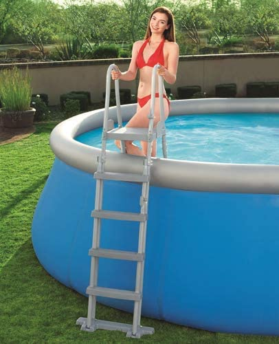 Escalera para piscina estructura de metal x piscina Altura max: Amazon.es: Jardín