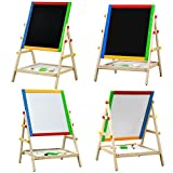 Creative Adjustable Lightweight Easy Wipe Clean 2 in 1 Black And White Drawing Chalk Board Great For Chirldrens Who Loves To Draw And Paint Activities
