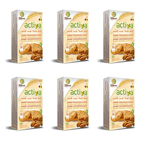 Activa No Added Sugar Almond Biscuits 150g x 6
