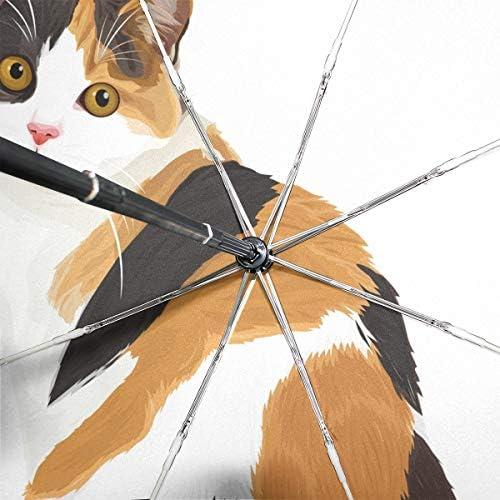 Chovy 折りたたみ傘 軽量 自動開閉 晴雨兼用 レディース 日傘 UVカット 遮光 ワンタッチ メンズ ネコ 猫 猫柄 クール 個性 カラフル 雨傘 傘 晴雨傘 折り畳み 8本骨 遮熱 丈夫 耐風撥水 収納ポーチ付き プレゼント
