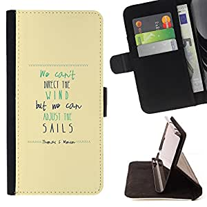 Jordan Colourful Shop - wind sails quote motivational inspiring For Apple Iphone 5C - Leather Case Absorci???¡¯???€????€???????&bdquo