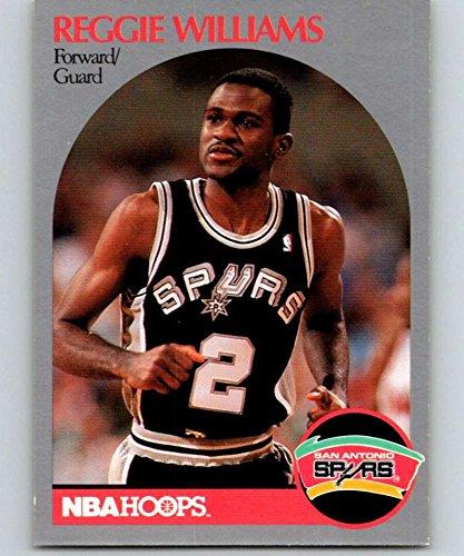 (1990-91 Hoops #272 Reggie Williams Spurs NBA Basketball)