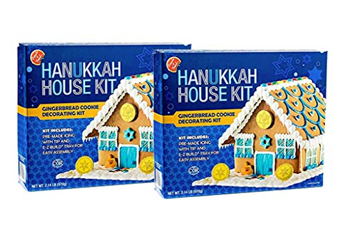Create a Treat DIY Chanukah Hanukkah Family Traditions.Gingerbread House Kit: 2 Pack - 2.14 lbs ea.