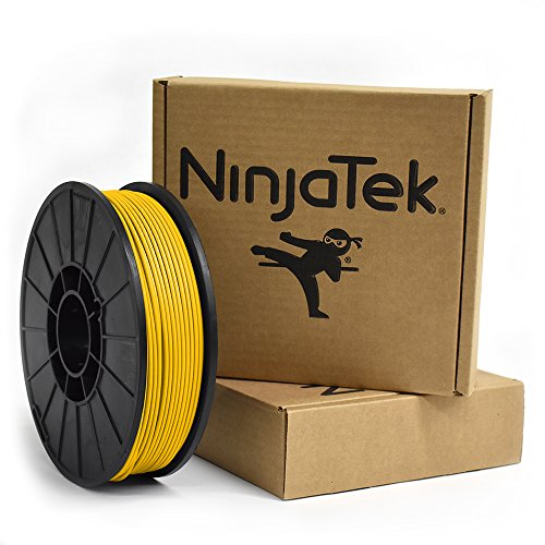 NinjaTek 3DCH04129010 NinjaTek Cheetah TPU Filament, 3.00mm, Tpe, 1kg, Sun (Yellow) (Pack of 1)