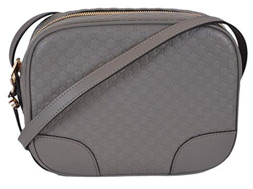Gucci Women's Leather Micro GG Guccissima Bree Crossbody Bag (Graphite Grey)