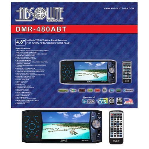 Absolute DMR-480ABT 4.8-Inch In-Dash Multimedia DVD Player Touch Screen System with Bluetooth, Analog TV Tuner and USB/SD Slot by Absolute