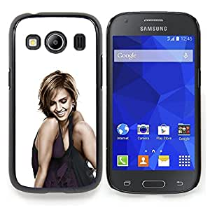 "Qstar Arte & diseño plástico duro Fundas Cover Cubre Hard Case Cover para Samsung Galaxy Ace Style LTE/ G357 (Mujer Sonriente"")"