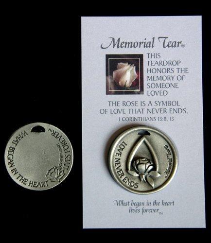 Rose Remembrance Box - Memorial Tear Pocket Token * Inspirational Pocket Token Coin Remembrance MTPT