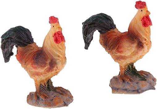 Hahn Vogelfigur Dekofigur Tierfigur Gartenfigur in Verschiedene Bildung,