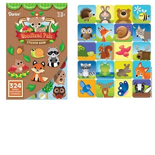 768 WOODLAND Creatures STICKERS- (2) Books of 324 each & 1 Package of 120 - Autumn ANIMAL - Mini STICKERS - DEER Squirrel FOX Owl RACCOON - Kid's ACTIVITY/Craft PARTY Favors