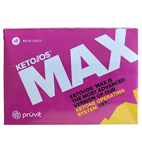 KETO//OS MAX Raspberry Lemonade CHARGED N8tive Series, BHB Beta Hydroxybutyrates Exogenous Ketones Supplements for Fat Loss, Workout Energy Boost and Weight Management through Fast Ketosis, 20 Sachets by Pruvit