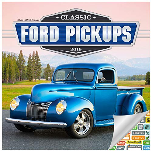 (Classic Ford Pickups Calendar 2019 Set - Deluxe 2019 Classic Ford Pickups Wall Calendar with Over 100 Calendar Stickers (Classic Ford Pickups Gifts, Office Supplies))