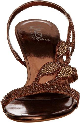 Unze Evening Sandals L18188W - Sandalias para mujer Marrón