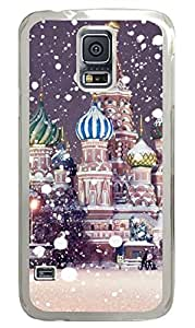 The Snow Castle PC Transparent Hard Case Cover Skin For Samsung Galaxy S5 I9600
