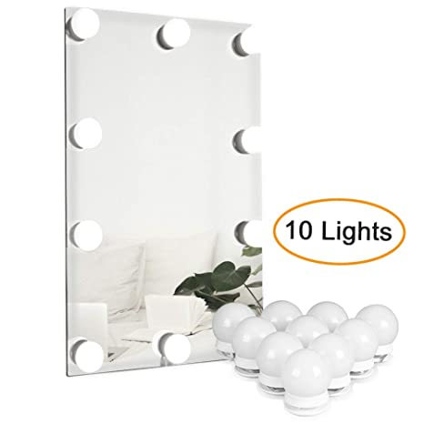 Waneway Vanity Lights For Mirror, DIY Hollywood Lighted Makeup Vanity  Mirror With Dimmable Lights, ...