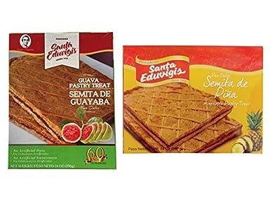 SANTA EDUVIGIS Pan Dulce Semita Salvadoreña (Semita de Piña, 2 Pack)