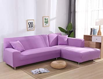 JiaQi Color sólido Funda de sofá,Stretch Tela Protector para sofás,Four Seasons Anti-mite Protector de Mascota Perro Gato Guardapolvo-U 4 plazas: Amazon.es: ...