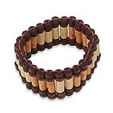 NOVICA Wood Beaded Bracelet, 7.5'' 'Adinpa'