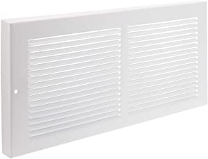 """Imperial 14"""" x 6"""" Painted Metal Baseboard Grille, White, RG0033"""