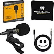 Professional Grade Lavalier Lapel Microphone Omnidirectional Mic with Easy Clip On System Perfect for Recordin