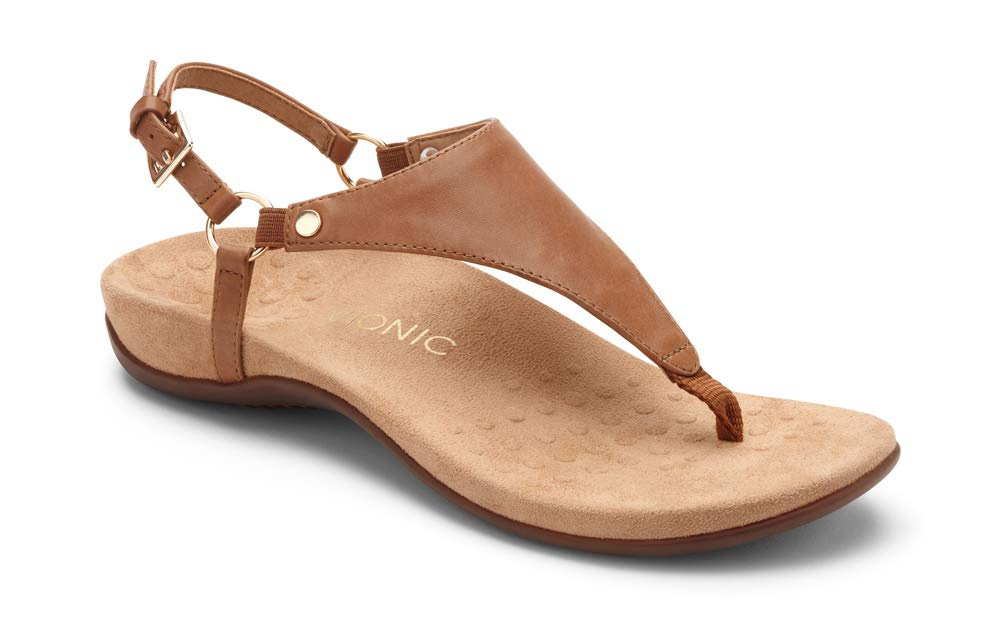 Vionic Women's Rest Kirra Backstrap Sandal - Ladies Sandals with Concealed Orthotic Arch Support Brown 8M by Vionic