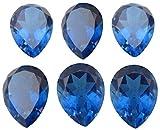 Gemstone Ceylon Gemstone Blue Quartz Pear cut 8x10mm 15Pieces Lot in Doublet Loose Gemstone Blue Color