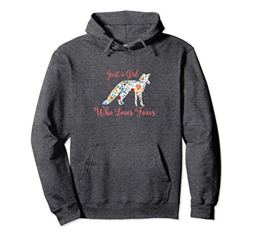 Unisex Just a Girl Who Loves Foxes HOODIE 2XL Dark - Fox Sweatshirt Kids