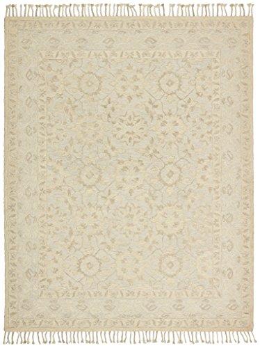 Stone & Beam Heidi Floral Wool Area Rug, 5' x 8', Beige