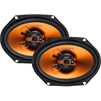 Cadence Acoustics Q682 250W 2-Way Q Series Coaxial Car Speakers, Set of 2