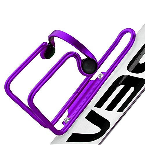 (Allnice Premium Ultra Light Anti Rust Aluminum Alloy Welded Bike Bicycle Cycling Handlebar Water Bottle Cage Holder Rack Bracket Bike Accessory for MTB/Road/BMX (Purple))