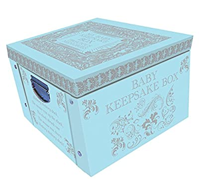Blue My Baby Keepsake Box A Lifetime Of Memories Large Collapsible Storage Box from Robert Frederick