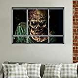Elevin(TM) Halloween 3D Self Adhesive Wall Stickers Remove Wall Decal Paper Art Home Decor (V)