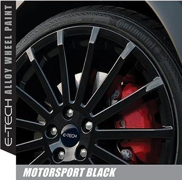 E-Tech Pintura para Llantas de aleación Negra Satinada Resistente al descascarillado de Motorsport, 400 ML: Amazon.es: Coche y moto