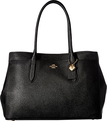 COACH Women's Bailey Carryall in Crossgrain Leather Li/Black One Size (Handbags)