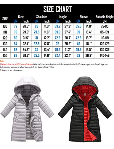 Jacket Girls Quilted Boys BESBOMIG Jacket Coat Slim Warm Hooded Padded fit Big Outerwear Long Cotton Child Down with Puffa Gray Winter xf0qwB4t0