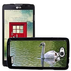GoGoMobile Slim Protector Hard Shell Cover Case // M00118399 Swan Lake Water Nature Animal White // LG Optimus L90 D415