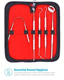 Equinox International Dental Hygiene Kit - Includes Tarter Scraper/Scaling Instrument, Dental Pick, Dental Sickle, and Mouth Mirror - Professional Surgical Grade Dentist Approved Tools
