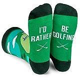3. Lavley - I'd Rather Be Golfing - Men's Novelty Socks - Fun Dress Socks For Work (Golf)