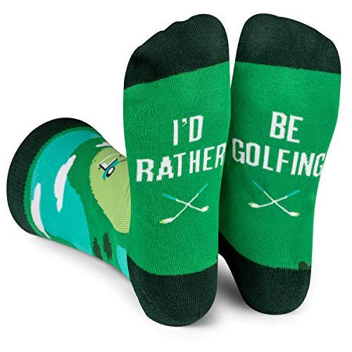 Lavley - I'd Rather Be Golfing - Men's Novelty Socks - Fun Dress Socks For Work (Golf)
