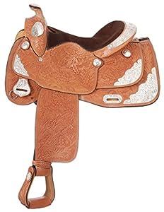 Tough 1 Classic Oak Silver Show Saddle
