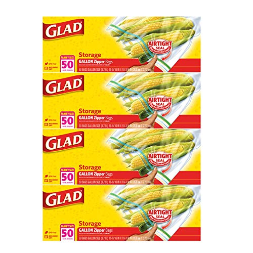 glad freezer bags quart - 4