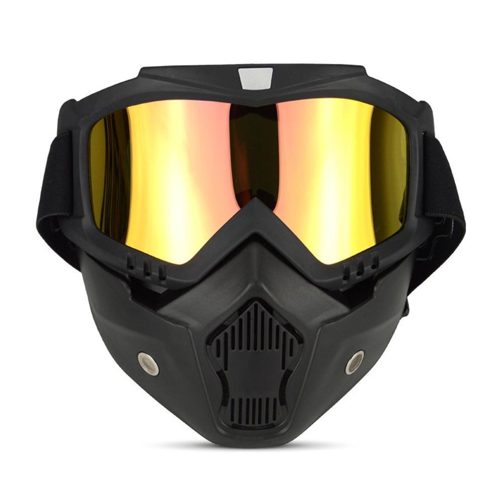 Sport Outdoor Occhiali da sole anti-UV retro Knight maschera antivento occhiali da Cross-Country leggero anti-impatto moto per lo sci equitazione e arrampicata , grey JIAAE