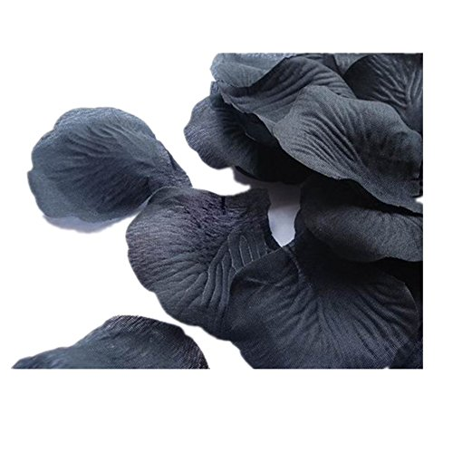 2000pcs Black Rose Petals White Rose Wedding Bouquets Fake Rose Petals Dried Rose Wedding Bouquet Artificial Flowers Wedding Party Decoration Table Confetti