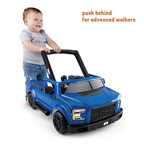 51a5jdc2p8L - Bright Starts 3 Ways to Play Walker - Ford F-150 Raptor, Lightning Blue, Ages 6 months +