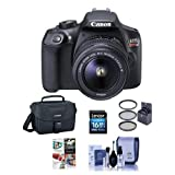 Cheap Canon EOS Rebel T6 Digital SLR Camera Kit with EF-S 18-55mm f/3.5-5.6 IS II Lens – Bundle With Camera Case, 16GB SDHC Card, Cleaning Kit, 58mm UV Filter, Software Package
