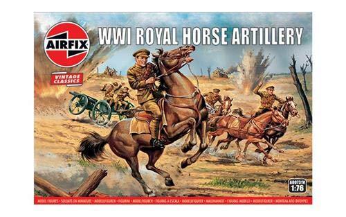 (Airfix Vintage Classics WWI Royal Horse Artillery 1:76 Military Plastic Model Figures A00731V)